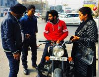 Four Royal Enfield Bullet bikes challaned for noise pollution