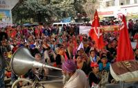 Workers' unions protest govt policies