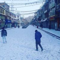 Ladakh receives season's first snowfall