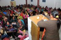 Anganwadi workers to keep    fighting for regular jobs