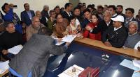 Key nominees file papers for Jind byelection