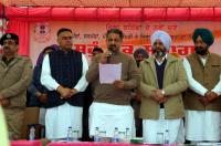 PWD Minister administers oath to sarpanches
