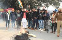 Cong holds protest against film on ex-PM