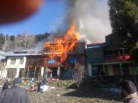 4 houses destroyed in fire at village in Doda