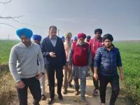 Agri Secy visits Lalru villages, inspects crops