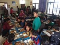 Lunch treat for destitute kids