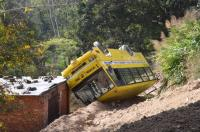 18 students injured as school bus overturns