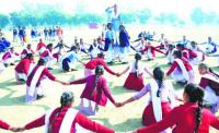 Exams ahead, students busy in R-Day rehearsals