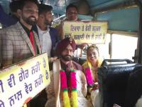 Not limo, roadways bus for NRI wedding