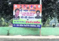 Illegal hoardings, posters deface city
