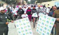 500 residents participate in Ambala City cyclothon