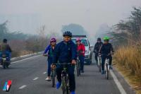 For environment, cycling club in Greater Noida avoids using cars on weekends