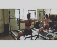 Malaika Arora Khan and Sara Ali Khan kick in a workout together!