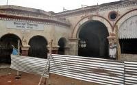 Roof construction work begins at railway station