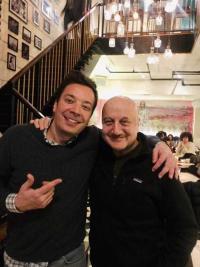 Anupam Kher, Jimmy Fallon meet, share mutual admiration
