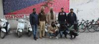 Gang of two-wheeler thieves busted, three arrested