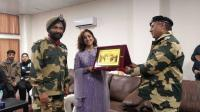 Yami felicitated by BSF Jawans