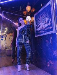 Inside Alia's mobile home
