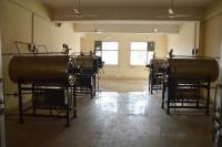 Autoclave room with five machines lying unused