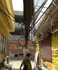 Electricity wires dangle dangerously as officials turn a blind eye