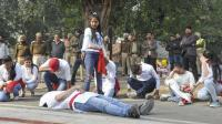 Students stage play on traffic rules