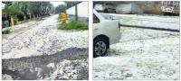 Hailstorm lashes district