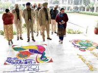 Rangoli contest marks Road Safety Week