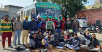 Punbus staff observe strike in Fazilka