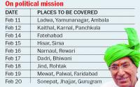 Out on furlough, Chautala's meetings from tomorrow
