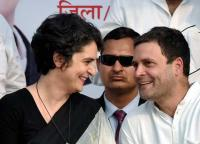 UP Congress workers plan grand welcome for Priyanka, Rahul