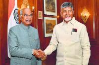 Naidu meets Kovind over AP special status