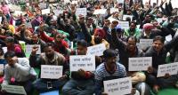UT contractual staff protest for regularisation