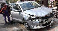 Rashly driven vehicle hits 2 cars
