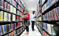 Books on wheels at PU Student Centre