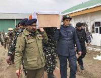 Rajnath Singh helps carry coffin of slain CRPF jawan