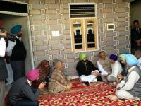 CM visits martyr's family in Ropar, announces pension for parents