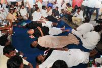 Puducherry CM's dharna against L-G enters 5th day