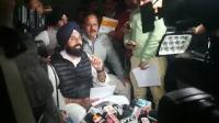 SAD leader Bikram Singh Majithia speaks to media in Punjab Vidhan Sabha