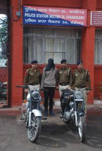 Youth arrested for stealing motorcycles