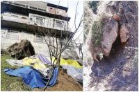 मनाली के इस गांव में भूस्खलन से खतरे में मकान, प्रशासन से लगाई मदद की गुहार