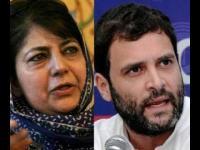 वाजपेयी पर राहुल के बयान को महबूबा का पलटवार : कहा- उनके नेतृत्व ने जेएंडके को खाई में गिरने से रोका