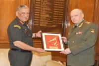 रूस की थल सेना के कमांडर ने सेना प्रमुख बिपिन रावत से की मुलाकात