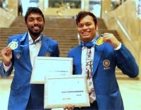 विश्व टीम शतरंज चैंपियनशिप - अधिबन भास्करन और सूर्या शेखर गांगुली को व्यक्तिगत स्वर्ण पदक