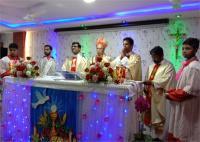 सेक्रेड हार्ट चर्च मकसूदां में मनाया गया क्रिश्चियन समारोह