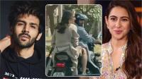 कार्तिक ने सारा अली खान को दी बाईक Ride, देखें वीडियो