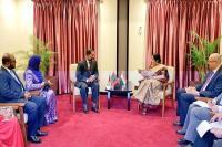 मालदीव के गृह मंत्री से मिली सुषमा स्वराज, द्विपक्षीय संबंधों पर की चर्चा