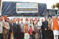 जम्मू-कश्मीर के पीड़ित परिवारों के लिए भिजवाई गई 502वें ट्रक की राहत सामग्री