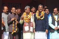 लोकसभा चुनावः माला राज्यलक्ष्मी शाह के बाद BJP के तीरथ सिंह रावत ने भरा नामांकन पत्र