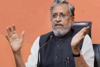 वोट बैंक की राजनीति कर रही कांग्रेसः सुशील मोदी