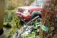 फायर सर्विस के वाहन और बाइक की टक्कर में 2 घायल, शिक्षक को हेलीकॉप्टर से किया गया रेफर